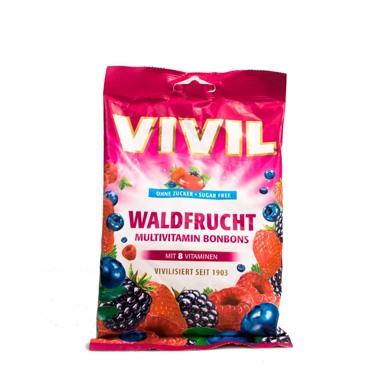آب نبات مولتی ویتامین با طعم توت وحشی بدون شکر ویویل – vivil