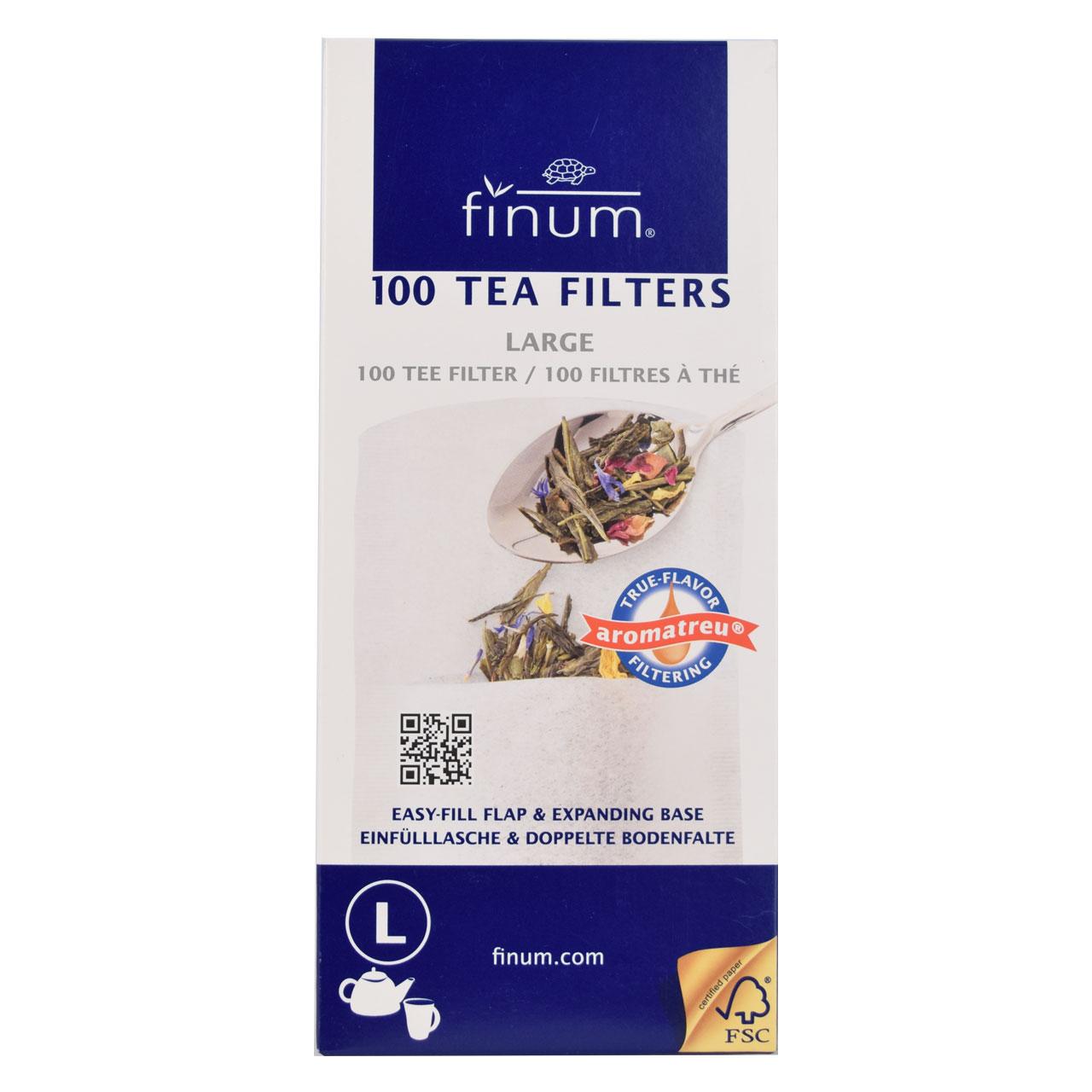 فیلتر چای و دمنوش ۱۰۰ عددی فینوم – finum