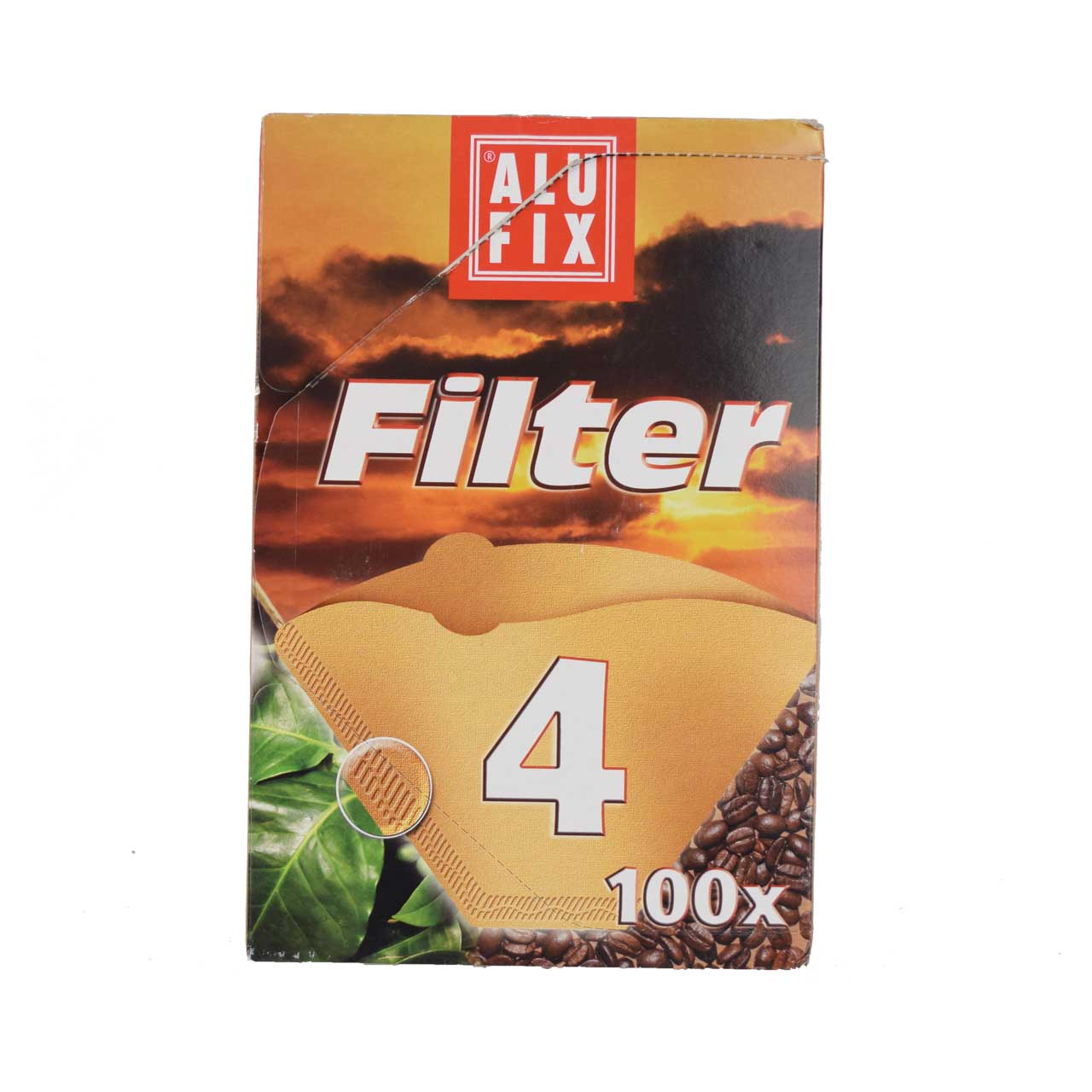 فیلتر قهوه ۱۰۰ عددی شماره ۴ الوفیکس – alufix