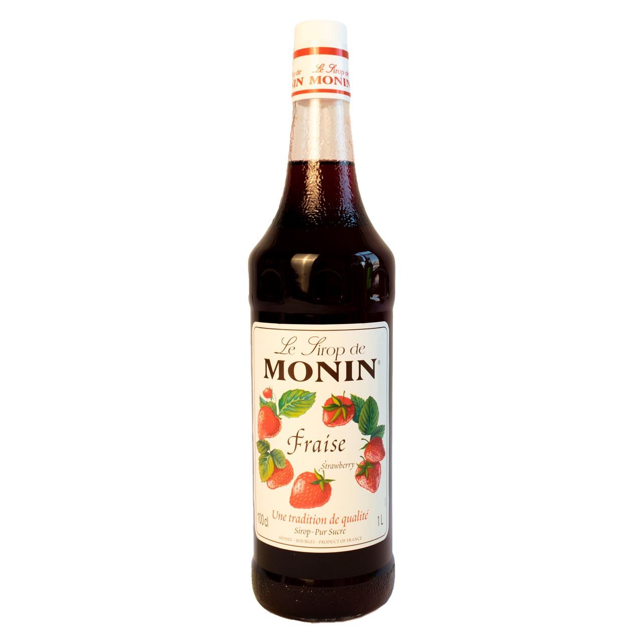 سیروپ توت فرنگی یک لیتر مونین – monin