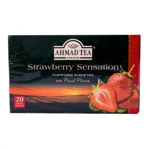 چای توت فرنگی احمد