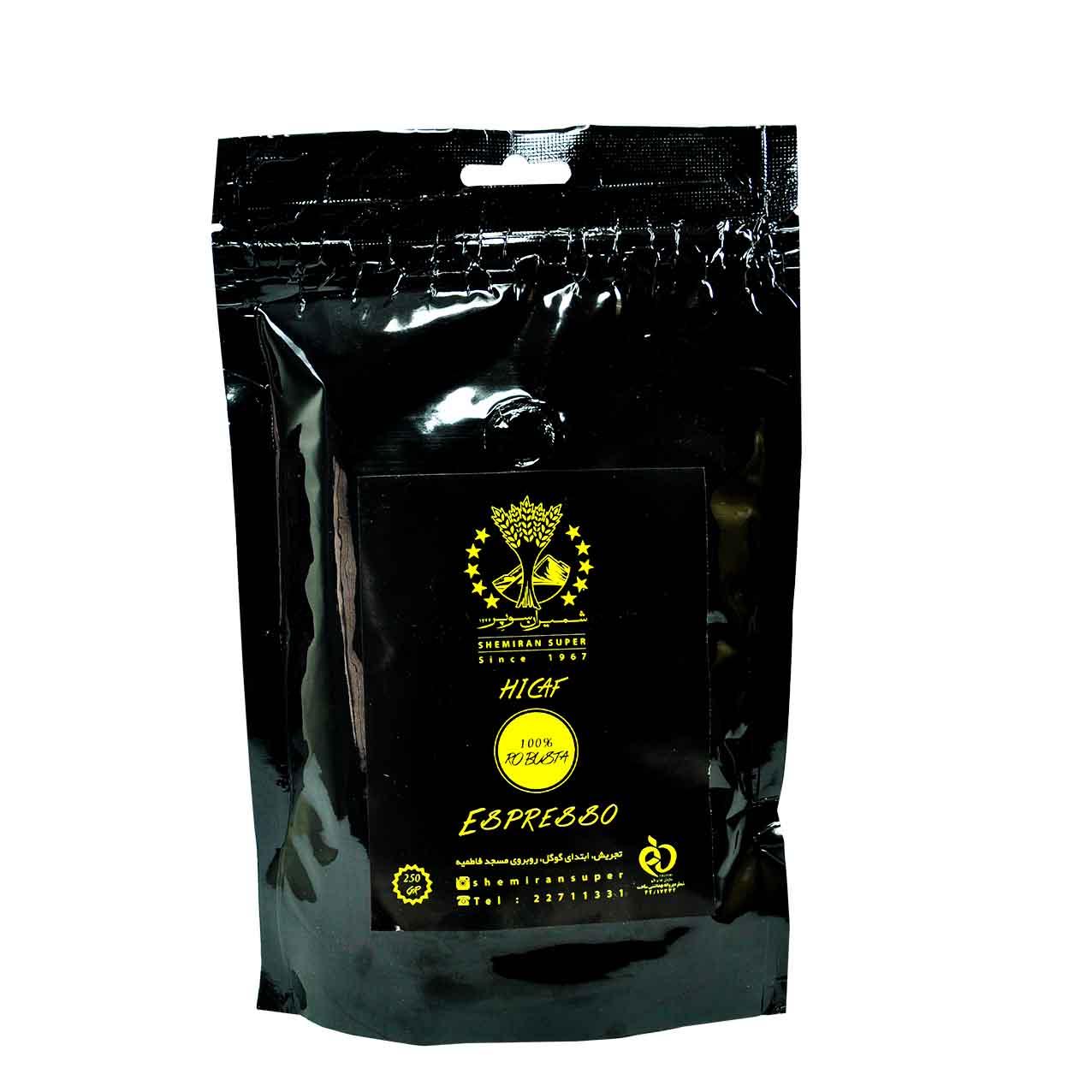 قهوه پودر ۱۰۰درصد ربوستا شمیران سوپر