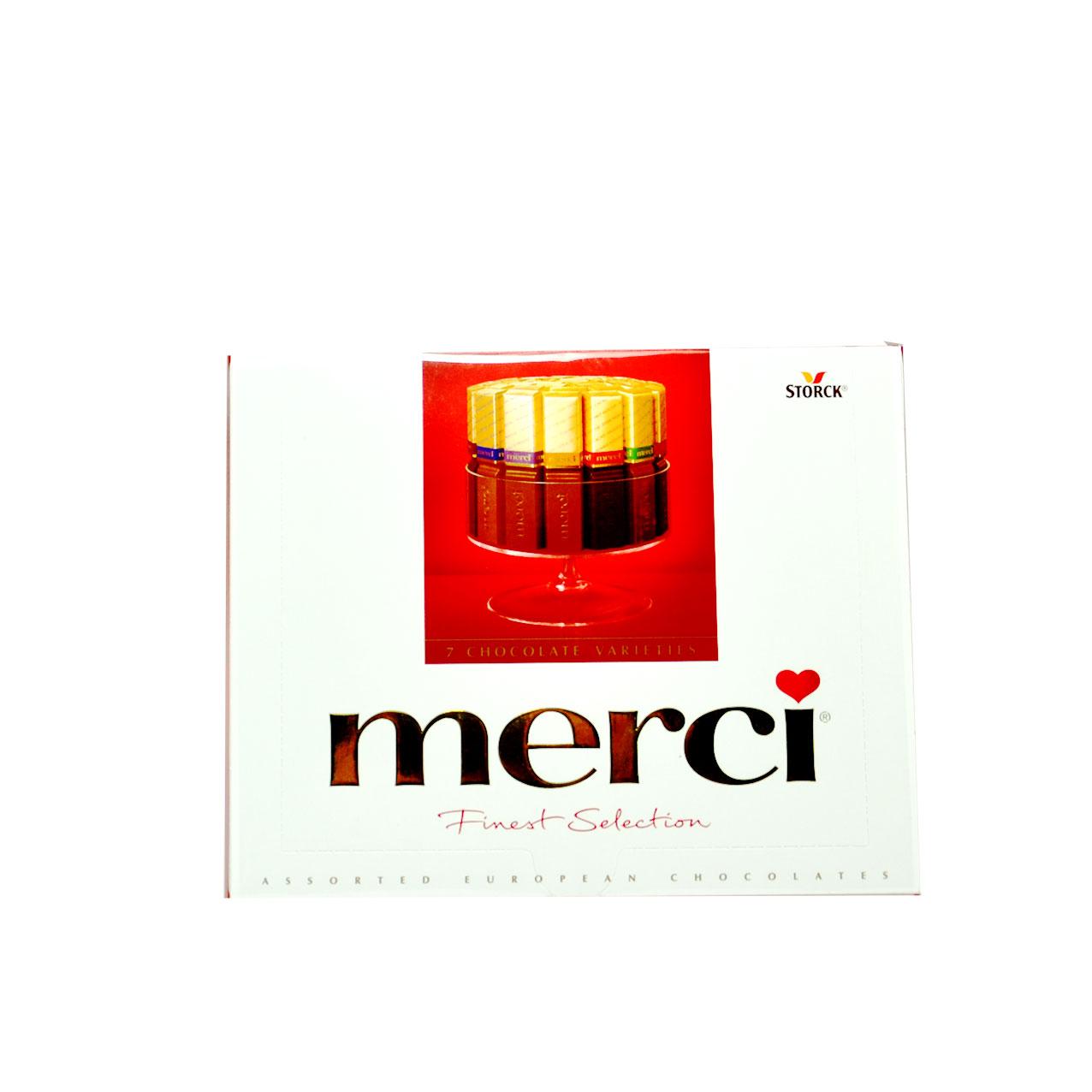 شکلات شیری ۲۵۰ گرم مرسی – merci