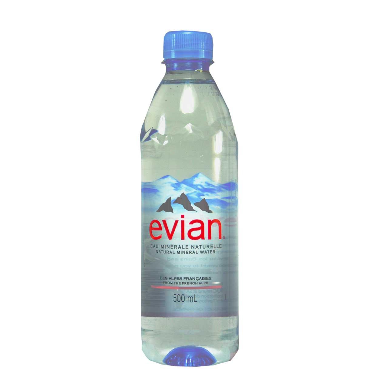 آب معدنی نیم لیتر اوین – evian