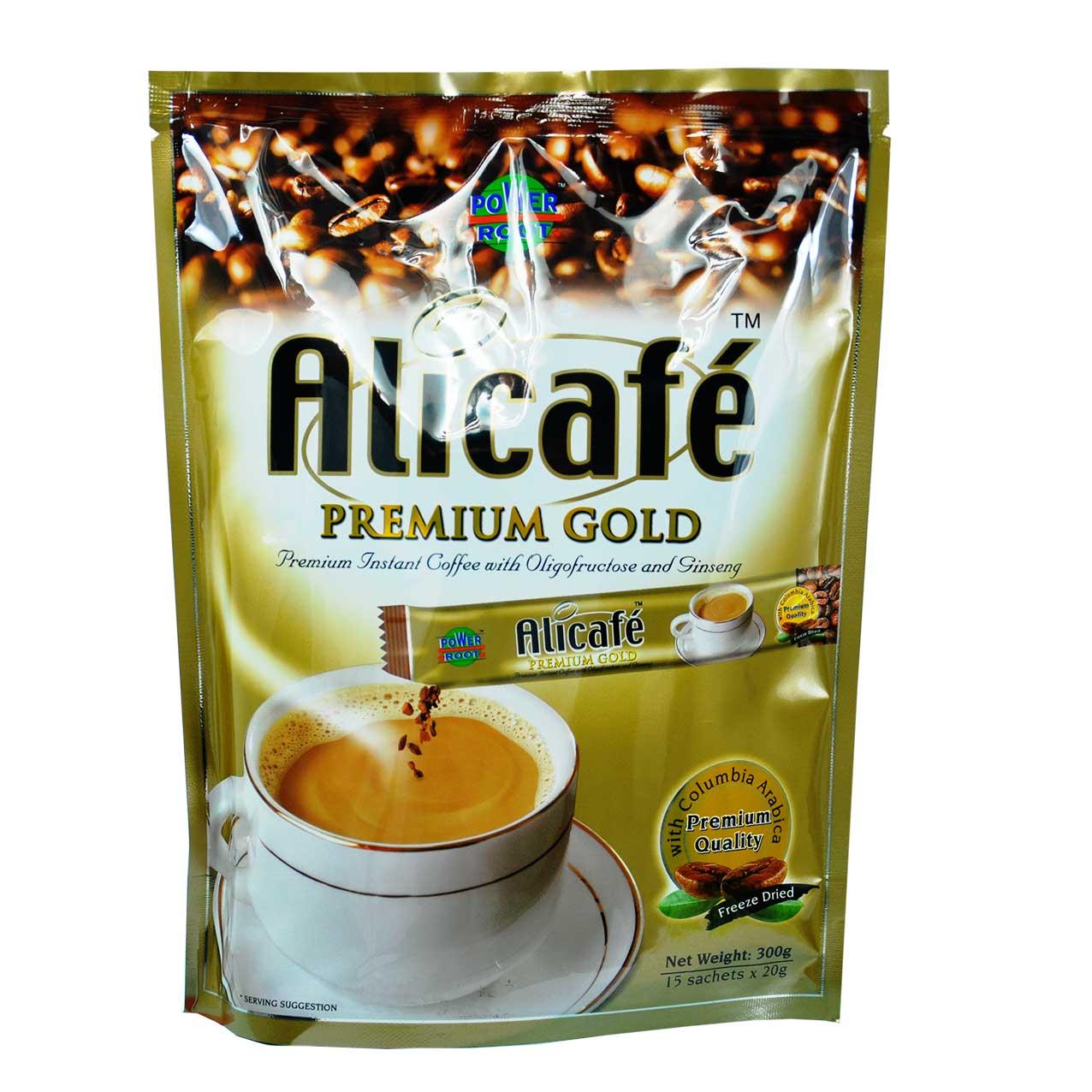 علی کافه پریمیوم طلایی ۱۵ عددی – Alicafe