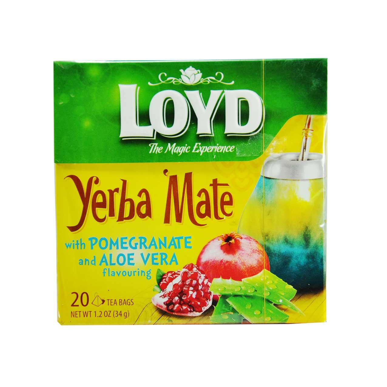 دمنوش گیاهی انار و آلوورا (یربا ماته ) لوید – LOYD