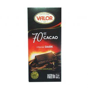 شکلات 70 درصد تلخ والور