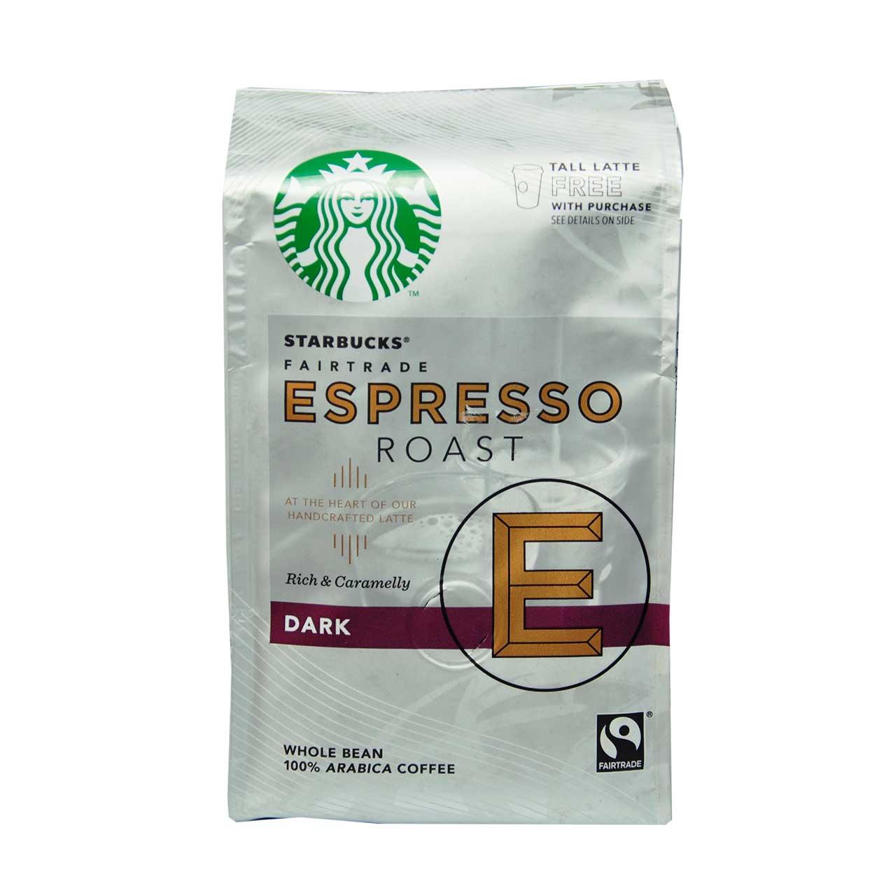 قهوه دان اسپرسو ۲۰۰ گرم دارک روست استارباکس – starbucks