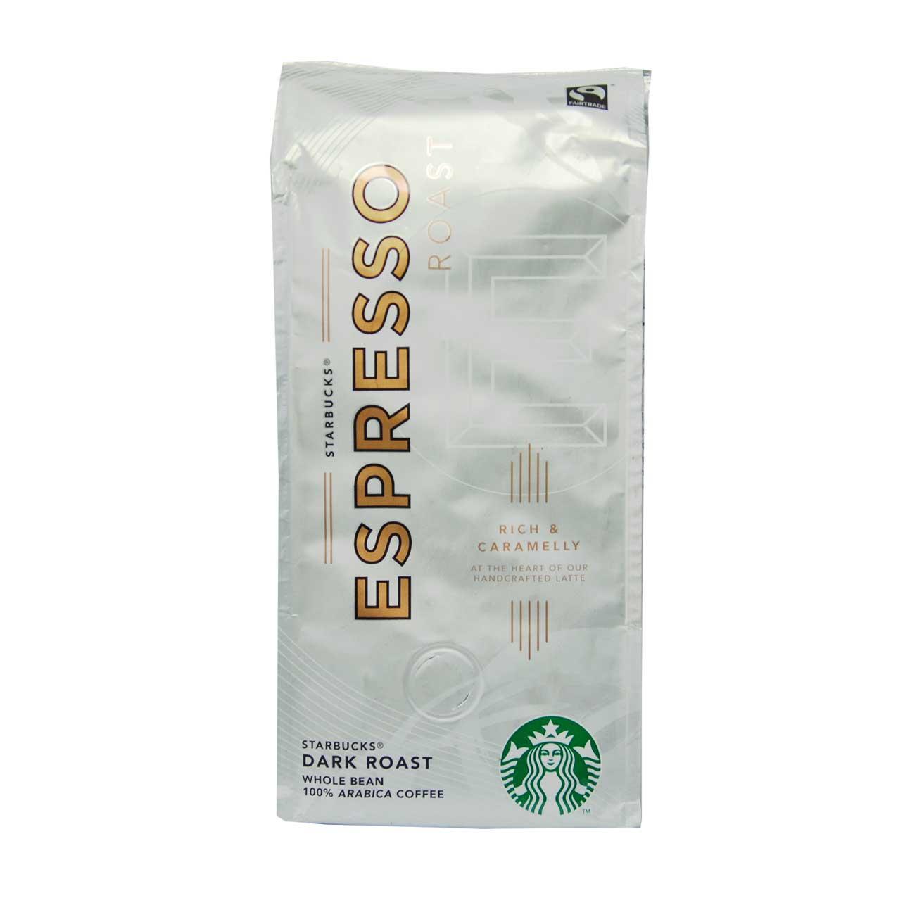 قهوه دان اسپرسو ۲۵۰گرم دارک روست استارباکس – starbucks