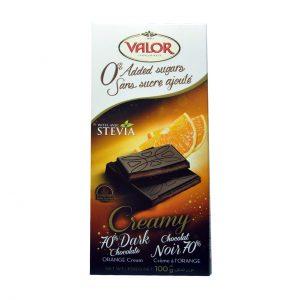 شکلات پرتقالی با استویا والور