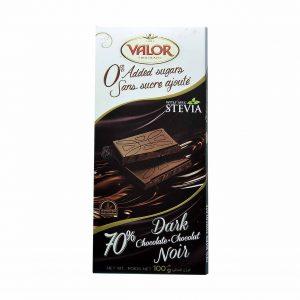 شکلات تلخ 70 درصد با استویا