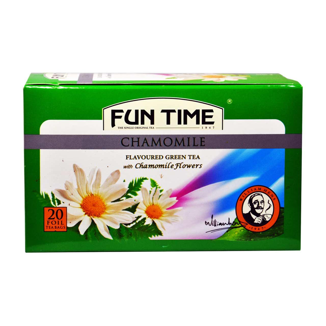 چای سبز تی بگ با گل بابونه فان تایم – fun time