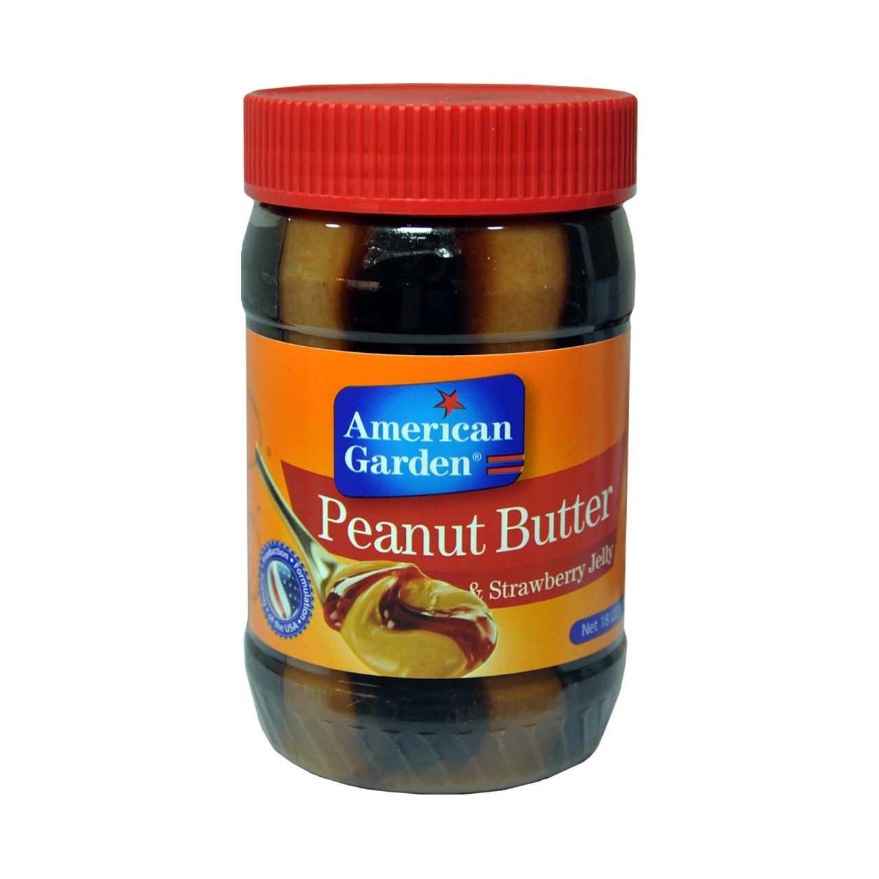 کره بادام زمینی با توت فرنگی امریکن گاردن – american garden