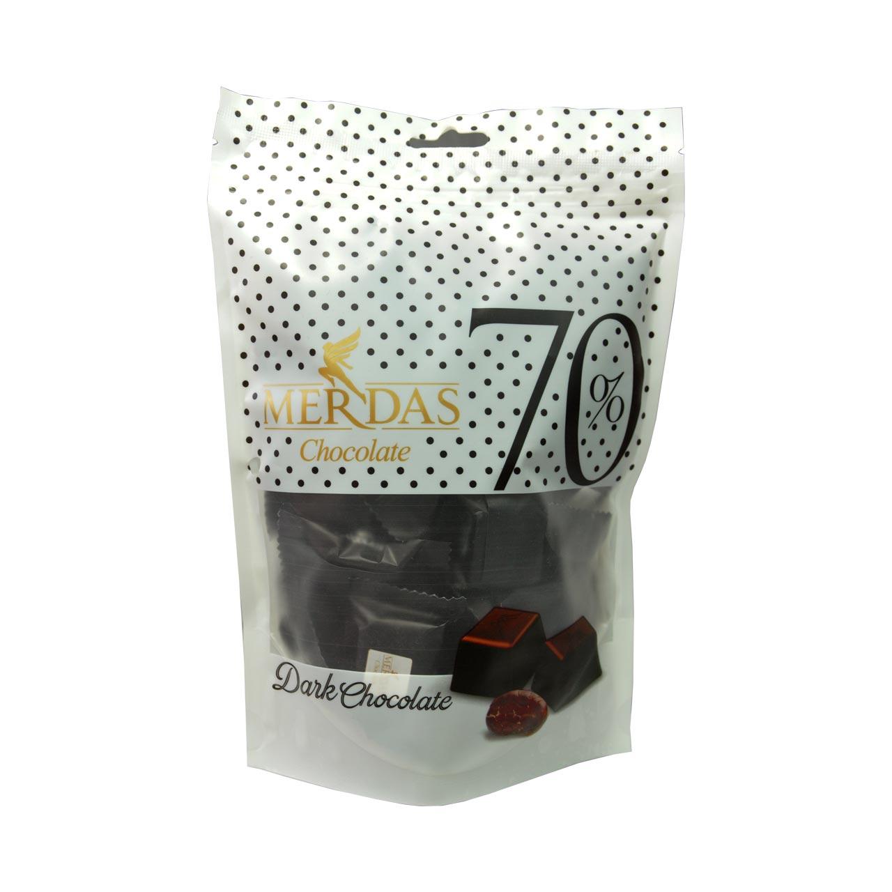 شکلات ۷۰ درصد تلخ مرداس – merdas