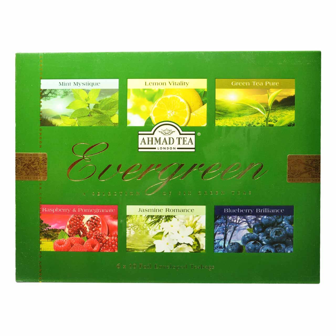 چای تی بگ سبز احمد ۶ نوع ۶۰ تایی – ahmad tea
