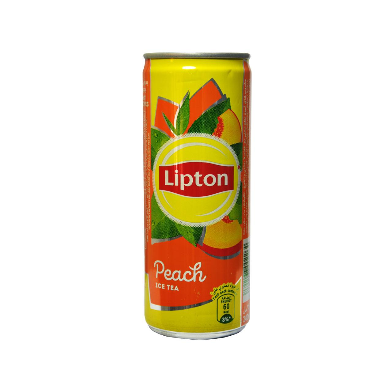 نوشیدنی آیس تی با طعم هلو لیپتون –  lipton