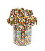 آبنبات طرح عصا رنگین کمانی کریسمس