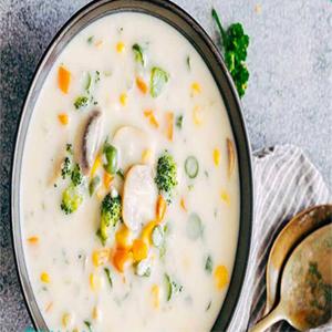 سوپ شیر و خامه