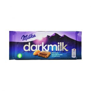 شکلات شیری دارک با بادام